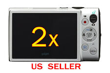 2x Canon ELPH 330HS Camera LCD Screen Protector Guard Cover Film