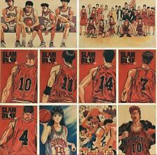 10pcs SLAM DUNK Vintage Retro Kraft Paper Antique Poster Wall Decor 42cm*30cm