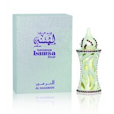 Lamsa Silver Attar By Al Haramain Jasmine Cyclamen Rose Musk Cedar Woody