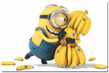 "MINIONS - Despicable me 2 Movie Silk Poster 24x36"" Stuart and Banana 010"