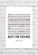 The Script - I'm Yours - Song Lyric Art Poster - A4 Size