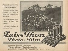 Z1422 ZEISS IKON Photo Film - Pubblicità d'epoca - 1928 Old advertising