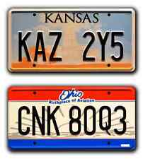 Supernatural / KAZ 2Y5 & CNK 80Q3 / *STAMPED* Replica Prop License Plate Combo