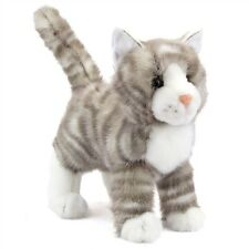 "ZIPPER GREY TABBY CAT 9"" by Douglas Cuddle Toy stuffed soft animal kitten gray"