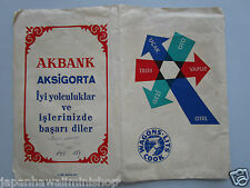 Turkey Wagons-Lits Travel Insert Pocket for Train Airplane Steamboat Hotel 1968