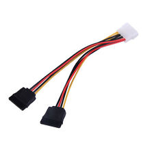 4 Pin IDE to 2 Serial ATA SATA Y Splitter Hard Drive Power Adapter Cable