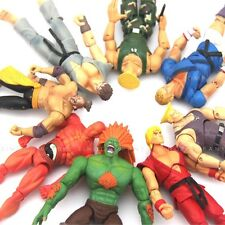 Lot 8pcs Boys 4'' Toys JAZWARES STREET FIGHTER Series ACTION FIGURE Collection