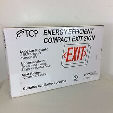 Energy Efficient Compact LED Exit Sign BNIB TCP 22743 Damp location