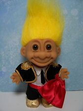 "MATADOR / BULL FIGHTER - 5"" Russ Troll Doll - NEW IN ORIGINAL BAG - Yellow Hair"