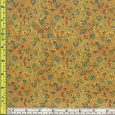 Wild Flower El Dorado Gold Accent Cotton Fabric Freedom 1/4 yd 22.5 cm off bolt