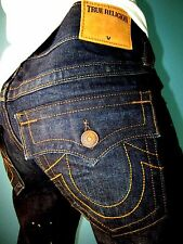 Men's $298 TRUE RELIGION RICKY Flap Relaxed Straight Hitchhikers Trail Jeans 33