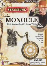 STEAMPUNK DELUXE MONOCLE Victorian Fancy Dress Costume Accessory Eyeglass BA749