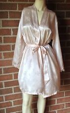 NWT Jones New York Intimates Light Blush Bridal Kimono Short Robe Lace Trim S/M