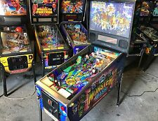Flipper Williams Monster Bush 1998 Pinball - Full LED - Perfect Working Conditio
