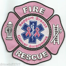 """Tribute - Support Breast Cancer Awareness  (4.5"""" x 4.5"""" size)   fire patch"""