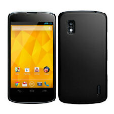 LG Google Nexus 4 E960 Hybrid Rubber Hard Case Cover Etui Gummiert in Schwarz
