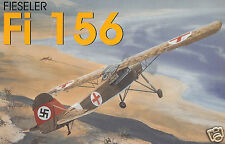 """Model Airplane Plans (FF): Fieseler Fi 156 Storch 1/12 Scale 47""""ws for 1/2A"""