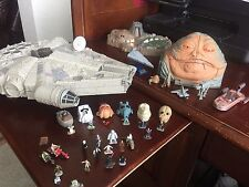 STAR WARS MICRO MACHINES LOT - Millennium Falcon, Dagobah, Jabba & loose figures