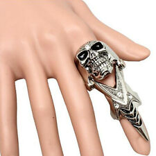 Hot Sale Vogue Metal Skull Armor Spike Joint Finger Ring - Gold or Silver