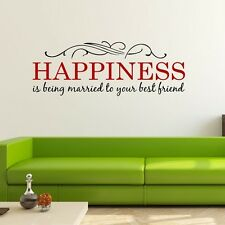 Happiness Married To Best Friend Wall Decals Wall Stickers Home Decor Art DIY