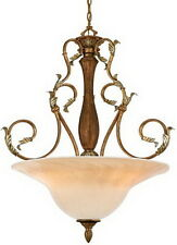 Welsh Gold And Gold Bisque Glass Chandelier/Pendant