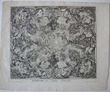Decker Corvinus Plafond Schlafgemach Orig Kupferstich 1711 Ornamentstich