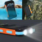 Waterproof Solar Power Bank 300000mAh Portable External Battery Charger NEW USA