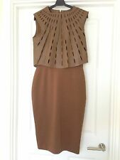 Catherine Deane Macy Laser Cut Leather Dress BNWT