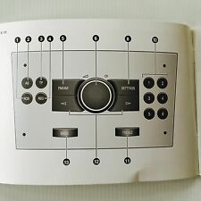 Vauxhall & Opel Audio R10 & CC20  manual Radio Operation Instructions Book guide