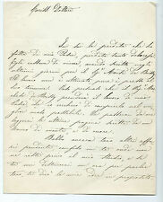 Lettera al Dottore Gaetano Catelani Lavoro Padre Deceduto su Marchese De Boissy