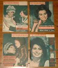 SOPHIA LOREN 4xFotogramas spanish magazine 1962/63 covers & inside reports sofia