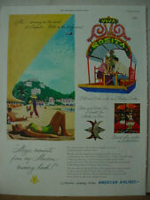 1951 American Airlines Acapulco Mexico Vintage Print Ad 10175