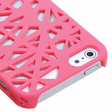 For iPhone 5 5S SE Rubberized Bird Nest HARD Case Snap On Phone Cover Hot Pink