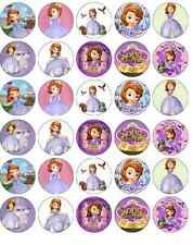 30 x Sofia The First Disney Cupcake Toppers Edible Wafer Paper Fairy Cake Topper