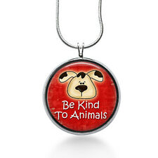 Be Kind to Animals Necklace, Dog and Cat Pendant, animals ,gifts for women