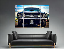 Ford Mustang Vintage Classic Car  Wall Art Poster Grand format A0