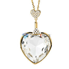 Cocktail Jewellery 18K Gold Plated Big Rhinestone Heart Pendant Necklace