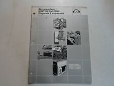1970 1982 Mercedes Ignition Systems Diagnosis & Adjustment Manual MINOR STAINS