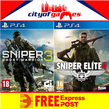 Sniper Elite 4 and Sniper Ghost Warrior 3 PS4 Bundle New & Sealed In Stock