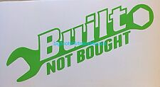 Truck Decal Built Not Bought With Wrench Car ATV Tool Box Safe Window Sticker A