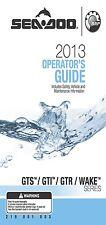 Sea-Doo Owners Manual Book 2013 GTS, GTI, GTR & WAKE SERIES