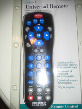 3 - in-1 Universal Remote Radio shack