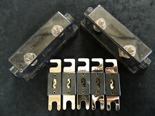 2 PACK 0 2 4 6 8 GAUGE ANL FUSE HOLDER W/ 5PK 300 AMP WAFER FUSES AWG WIRE