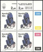Namibia 1991 l'azzurrite/Minerali/miniera/Cristalli/Gemme 4 x 1v C/B RISTAMPA (n17281)