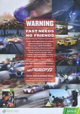 "Need For Speed Hot Pursuit Xbox 360 ""19th November"" 2010 Magazine Advert #4599"
