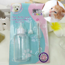 Pet Small Dog Puppy Cat Kitten Rabbit Milk Nursing Care Feeding Bottle Set Great