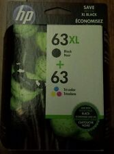 Genuine Brand new Sealed box HP 63XL Black Tricolor Ink Combo Cartridges Pack