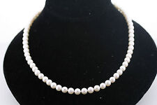 Mikimoto Blue Lagoon 6.0-6.5mm Pearl Necklace 18 Inch 14k Gold Diamond Clasp