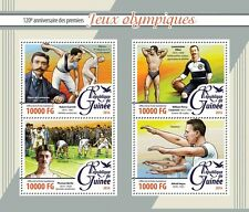 Guinea 2016 MNH First Olympic Games 120th Anniv 4v M/S Coubertin Olympics Stamps