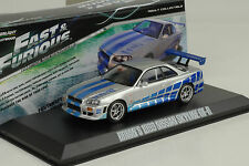 1999 Brians NISSAN SKYLINE GT-R SILVER FAST & AND FURIOUS 1:43 Greenlight